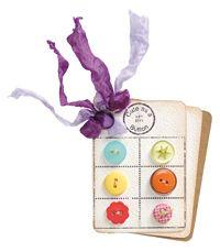 Free Cute as a Button Card Topper