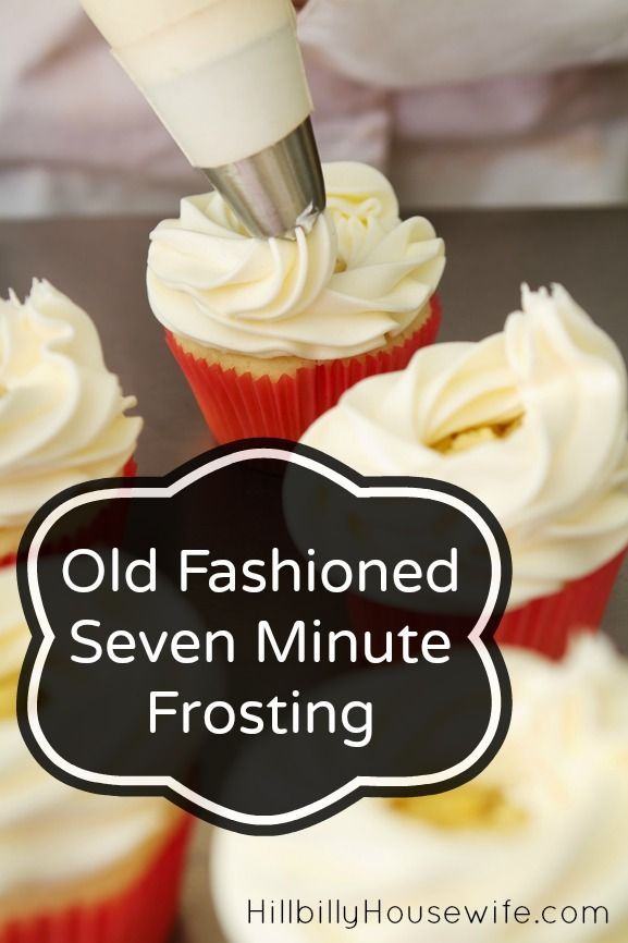 Homemade 7 Minute Frosting- 1 1/2 cups sugar 1/2 cold water 2 egg whites ( the yolks can be added to scrambled eggs) 2 tsp light corn syrup of 1/4 tsp cream of tartar 1 tsp vanilla