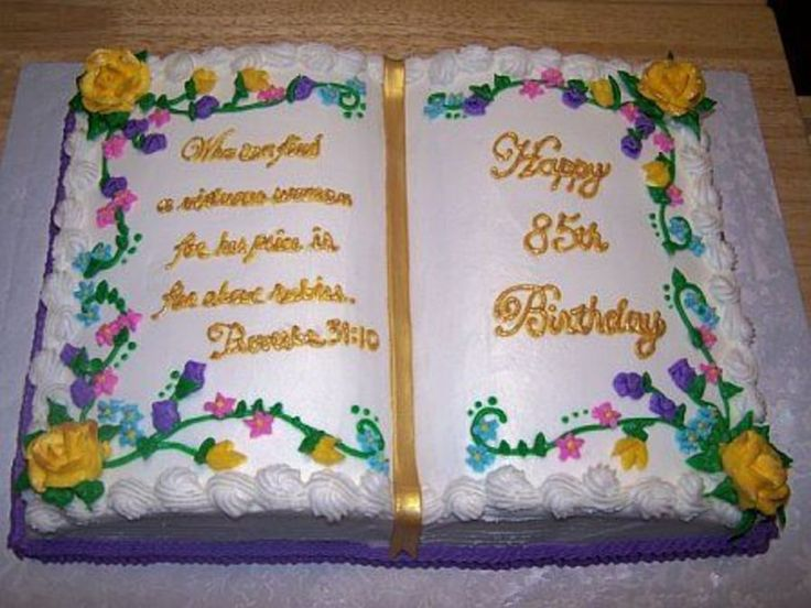 Open Book Cake on Cake Central