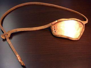 Sweet Eye Patch Custom Wood and Leather Eye Patch L