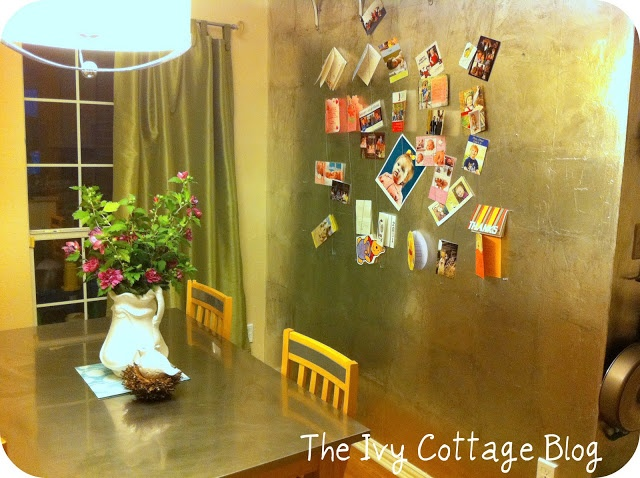Aluminum Foil Wall CoveringFaux Silver, Cottages Blog, Foil Wall, Silver Leaf, Wall Paper, Aluminum Foil, Ivy Cottages, Leaf Tutorials, Leaf Wall