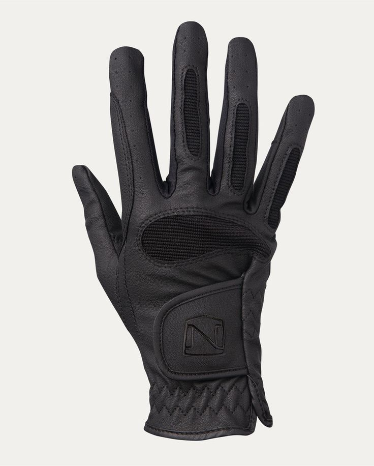 Dark Horse Tack is proud to offer... - Synthetic leather with flexible keystone cut thumb - Stretch mesh side panels for fit and breathability - Double stitched critical seams - Reinforcement for doub