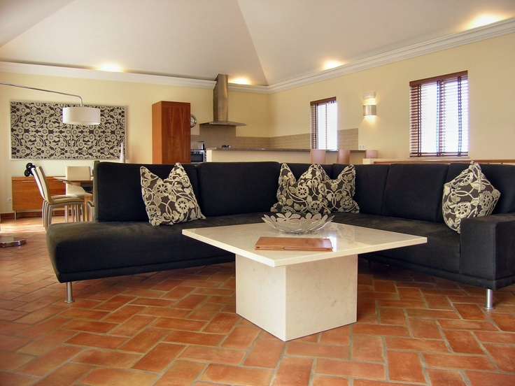 The Vilas Mimosas were also designed by Michael Brown and Joao Cabrita (Quinta Design) - each Vilas Mimosa has different floors.  This one has warm terracotta floors and a lovely interior design.