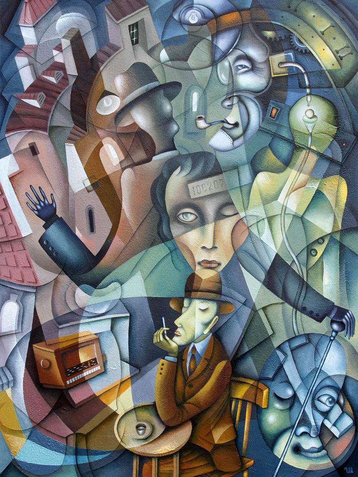 Shadow by Eugene Ivanov, oil on canvas, 80 x 60 cm, 2012. #eugeneivanov #cubism #avantgarde #threedimensional #cubist #artwork #cubistartwork #abstract #geometric #association #@eugene_1_ivanov