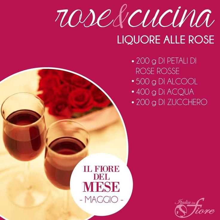 Pulire bene i petali di rosa, versarli in un mortaio e pestarli leggermente. Trasferirli in un contenitore ermetico di vetro e coprirli con l'alcool. Farli macerare per 2 settimane circa,poi filtrare il liquido con un colino e tenerlo da parte. Preparare uno sciroppo facendo bollire acqua e zucchero ed una volta freddo unire l'alcool filtrato. Travasare il liquido in bottiglia, chiudere e fare riposare per 2 mesi.