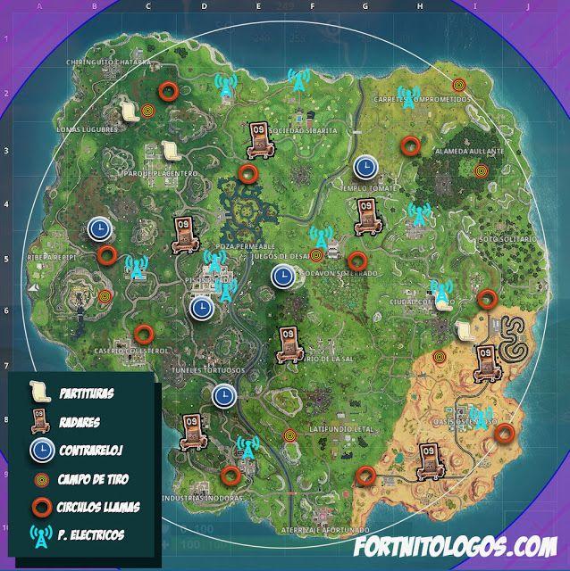 Mapa Fortnite Temporada 5 Español.Tu Web De Fortnite En Espanol Mapa De La Temporada 6 De