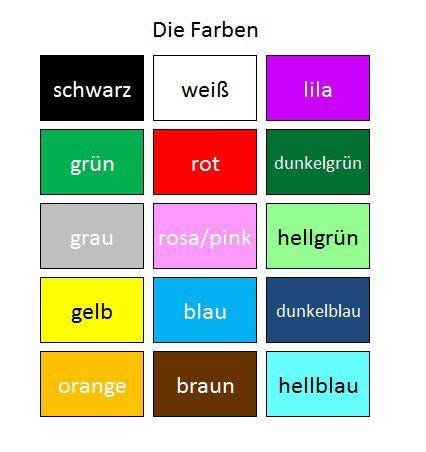 Quero aprender alemão - Deutsch als Fremdsprache: Cores em alemão