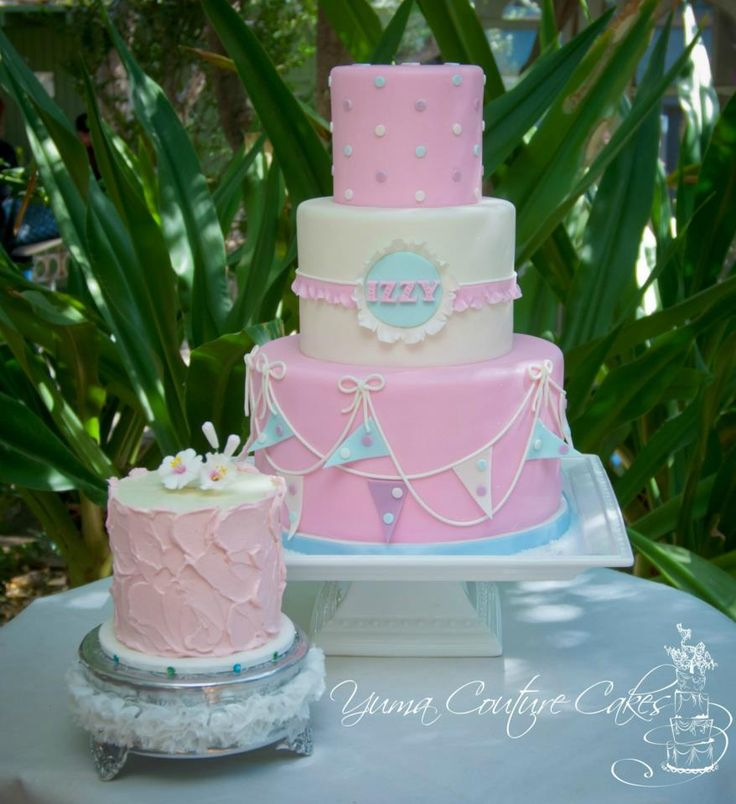 First birthday cake  I love the roughly iced smash cake the most  Don t  know why I ve never thought to ice the top smooth in one color and then do  the body  415 best Birthday Cakes for Girls images on Pinterest   Cakes  . Easy First Birthday Cake Girl. Home Design Ideas
