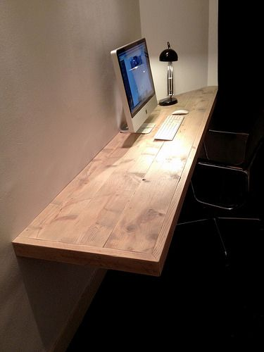 Bureau 'floating desk' | Steigerhout | Te koop bij w00tdesign | by w00tdesign | Meubels van steigerhout More
