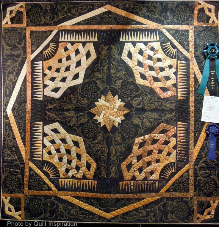 "Roman Tiles, 76 x 76"", by Ann L. Petersen.  Best of Show, 2014 AZQG, photo by Quilt Inspiration"