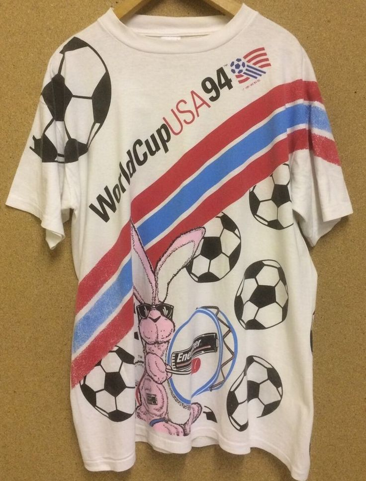 Vintage 1994 USA World Cup Football Soccer Energizer Bunny T Shirt Large Adult #Energizer #Football