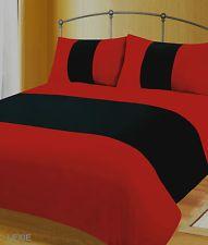 Black Red Colour Duvet Cover Microfibre Bedding Quilt Set
