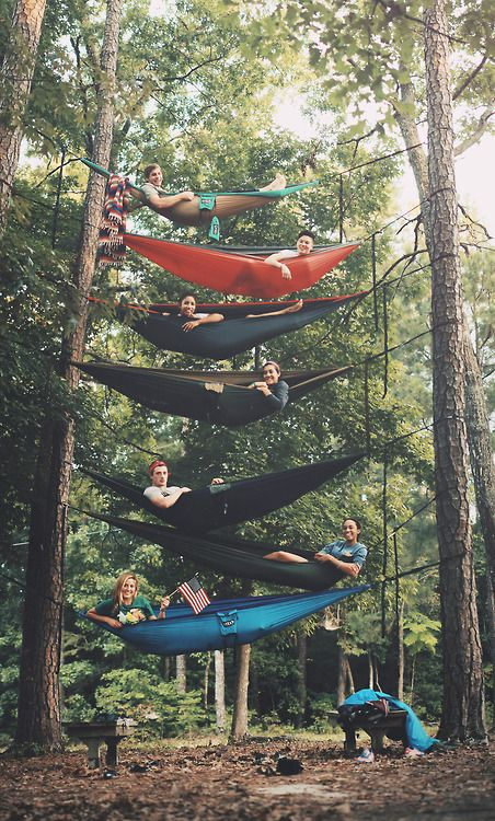 just some friends and their hammocks