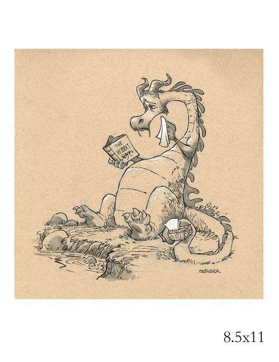 zasdar inktober dragon print – Various Sizes