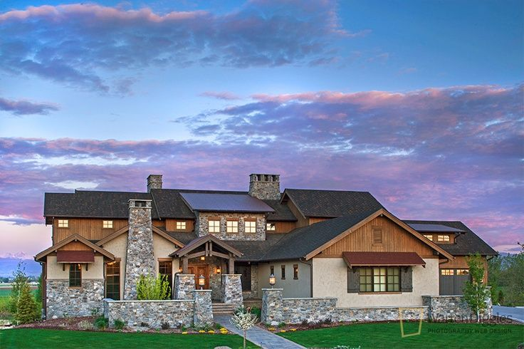 Luxury ranch home exteriors colorado luxury home for Texas style house