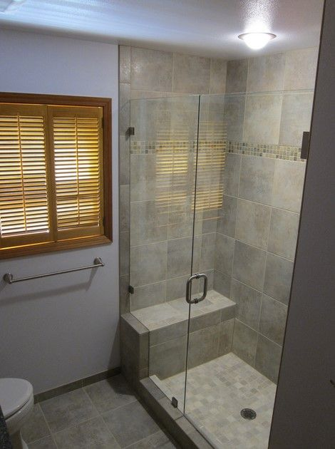 Small Bathroom Walk In Shower Designs - Small Bathroom Design Walk-In Shower  With Bench