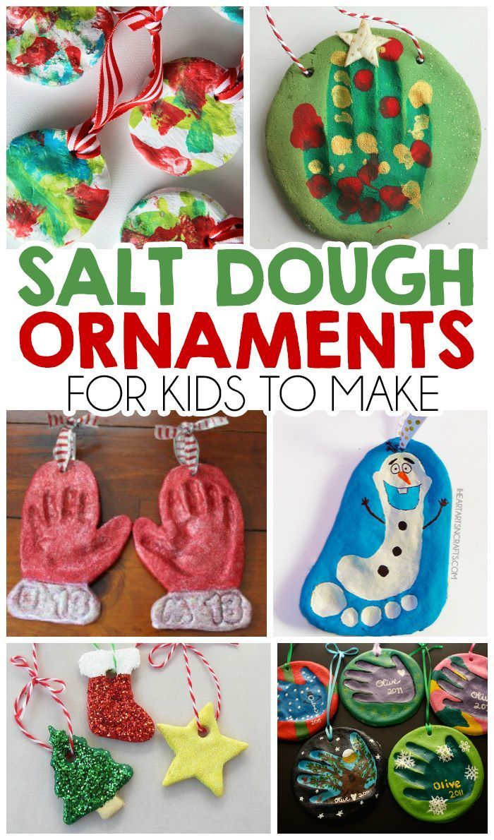 27 Salt Dough Ornaments For Kids To Make!