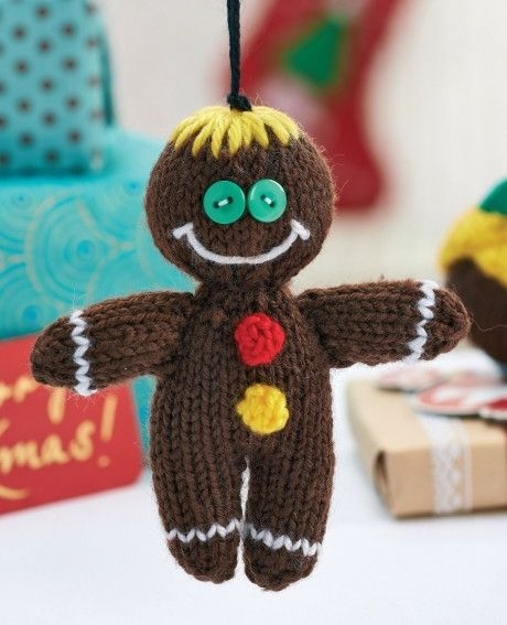 Gingerbread Man Knitting Pattern : Mas de 1000 imagenes sobre Free Knitting Toy Pattern (Hansigurumi) en Pintere...