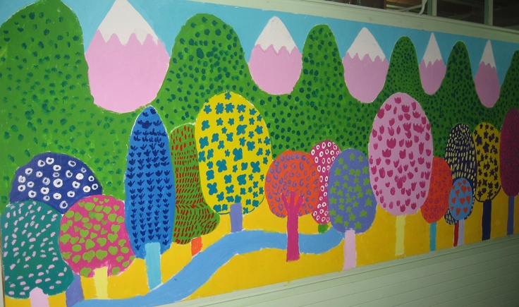 56 mejores im genes de mural primavera en pinterest for Puertas decoradas de navidad trackid sp 006