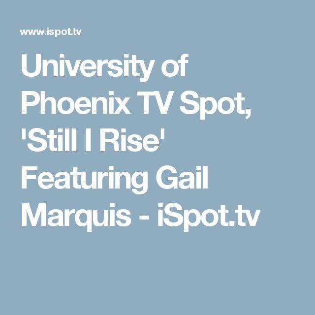 university of phoenix tv spot u0027still i riseu0027 featuring gail marquis ispot
