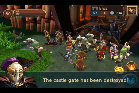 Castle Master 3D.  Full 3D Action Strategy Siege Game, Castle Master!  Massive Battle of 600 will thrill you! First 300 vs. 300 siege battle on mobile!   With 300 followers, go destroy the gate of the enemy castle!