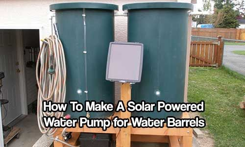 How to make Solar Powered Water Pump for Water Barrels. With this pump you can get a lot more water further away from your barrel.