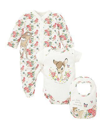 Disney Bambi Three Piece Set - gift sets - Mothercare £15
