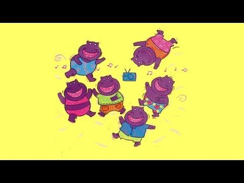 Kids will rock with the rockin' hippos! Children and animated hippos dancing - what a sight to see 6 hippos rockin' on their feet! Children will love to sing and dance along to this rock and roll favorite childrens video song! #lovetosing #kidsmusic #actionsongs