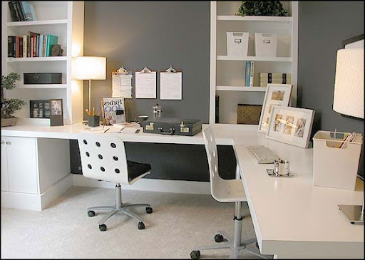 White Home Office Cabinets Modern Part 71