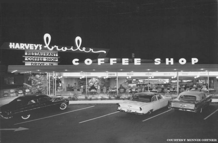 Harvey's Broiler, 7447 Firestone Blvd., Downey, Ca.: Coffee Shops, 1950S, Big Boys, The Angel, Memorial Shops, Mid Century, Harvey Broiler, Bygon The, 1950 S