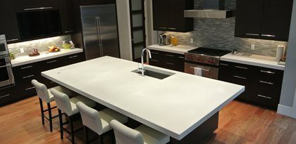 Image result for colored cement countertops