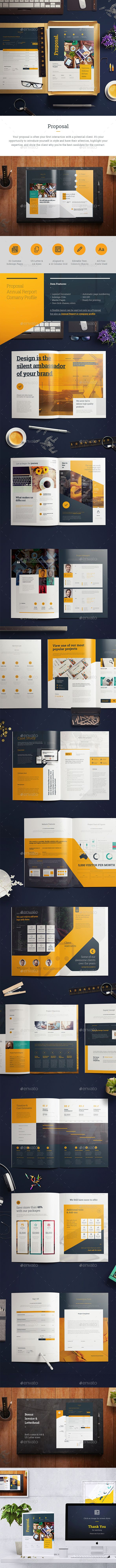 Proposal — InDesign INDD #brand #informational • Download ➝ https://graphicriver.net/item/proposal/20218503?ref=pxcr
