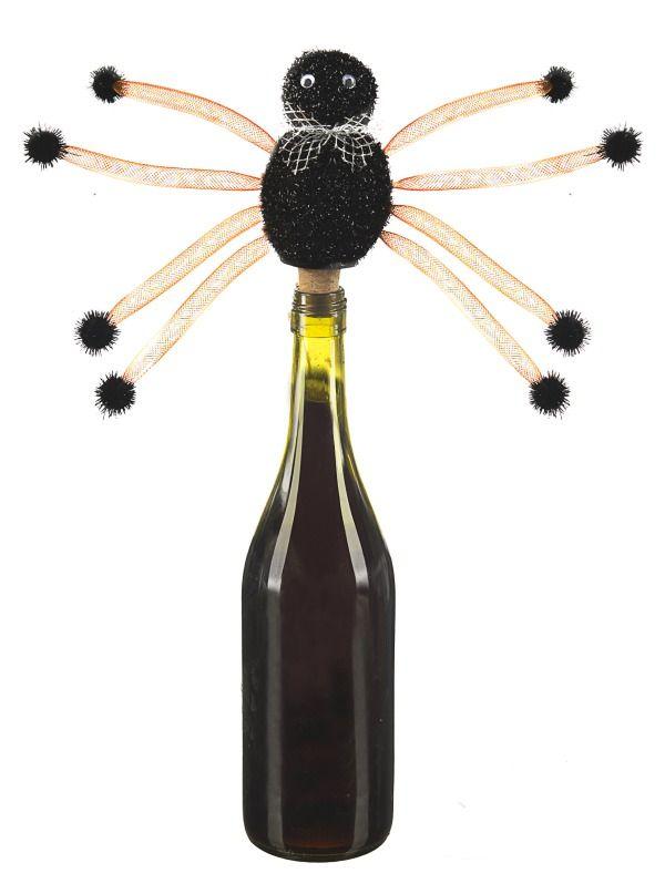 halloween sparkle black wine bottle cork stopper