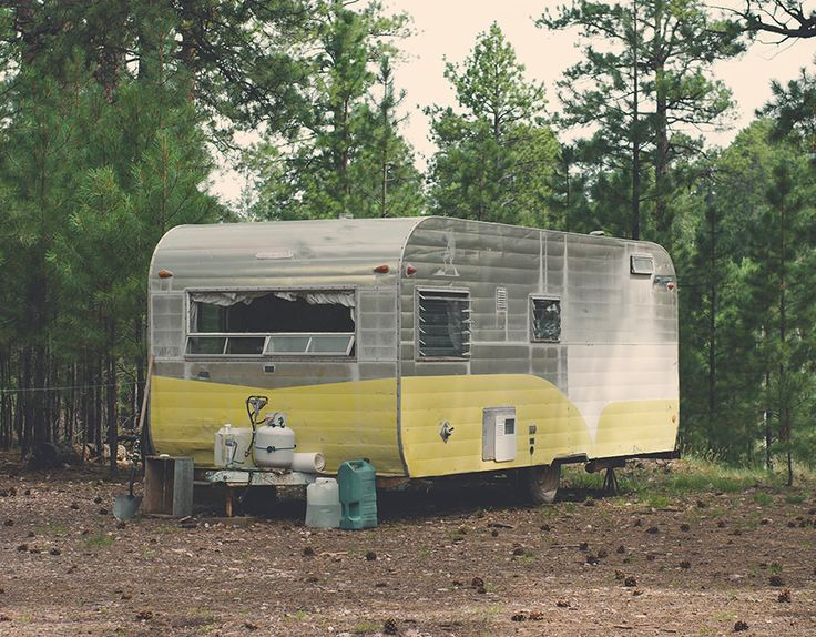 Secret Campsite, Vintage Caravan Fine Art Print