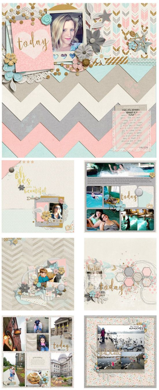 #papercrafting #scrapbook #layouts