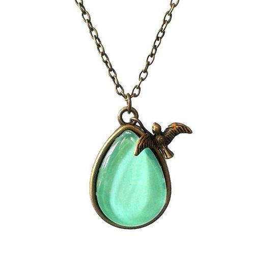 Pretty Birds Creations - Aquamarine Teardrop Necklace from the Tropical Summer Collection at www.prettybirds.co.nz
