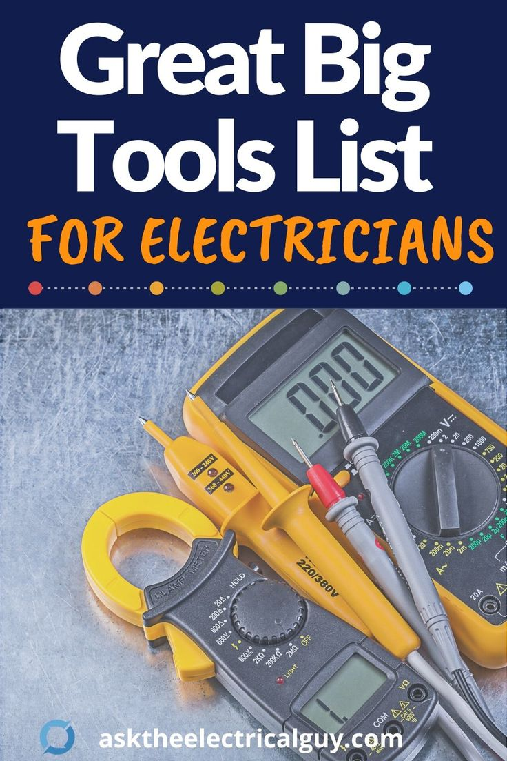 Electrician tools a master list in 2020 with images