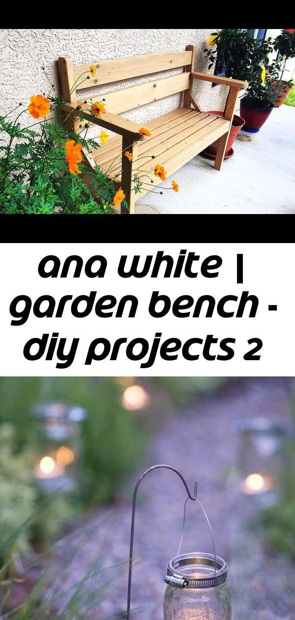 Ana white | garden bench - diy projects 2 | Garden bench ...