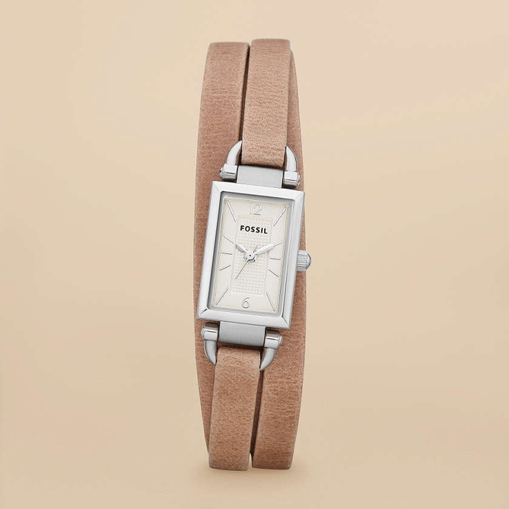 FOSSIL® Watch Styles Leather Watches:Women Delaney Leather Watch – Sand JR1370