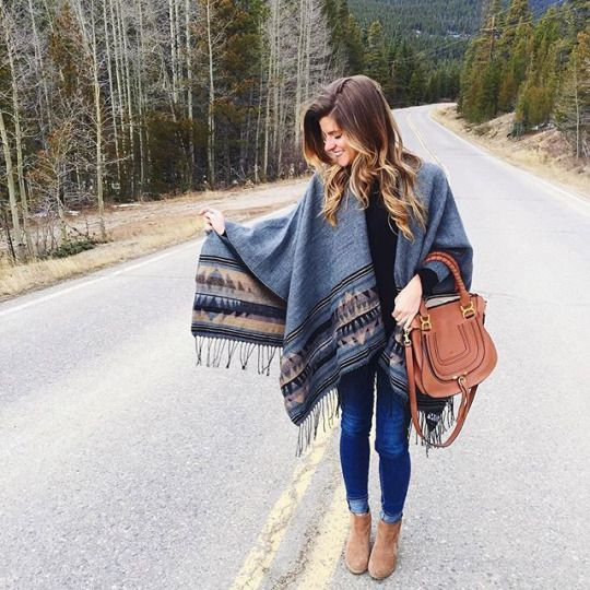 Cute mountain weekend outfit.                                                                                                                                                                                 More