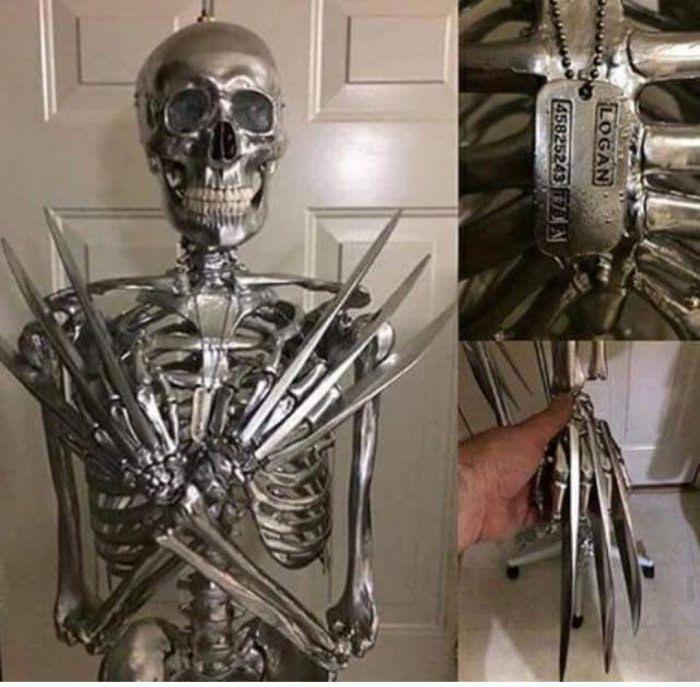 Wolverine 's adamantium skeleton - 9GAG