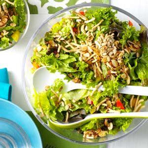 Company Green Salad: Salad Dressing Recipes, Salad Dresses Recipes, Salad Dressings, Eating, Dinners Parties, Recipes I Ll, Food Salad, Rice Noodles, Green Salad Recipes