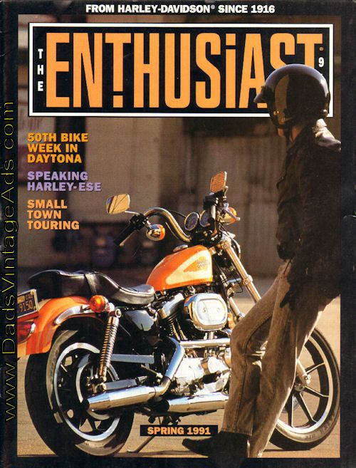 Features: Small Town Touring; Profile: Billy Gibbons - ZZ Top's hot rod Harley Rider; 50 Years of Daytona; Harley-Speak - learning your native language; The Good Ole Days - 1921 - Harley-Davidson Sport Model first to bottom of the Grand Canyon; more  Complete, vintage motorcycle magazine.  Cond