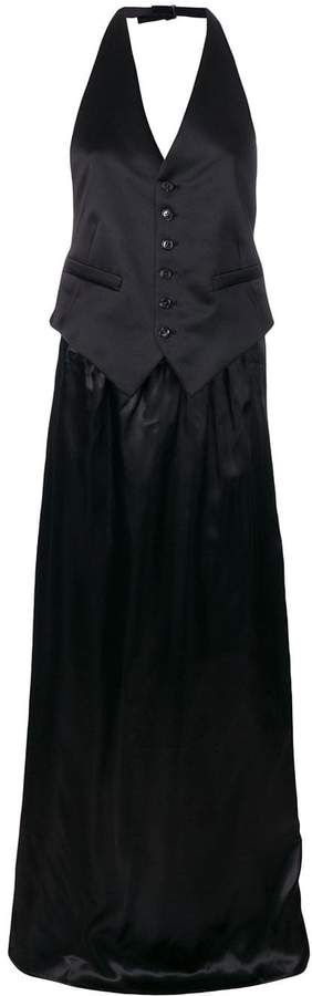 Mm6 Maison Margiela Long Waistcoat Dress 1