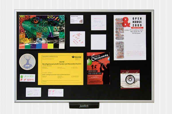 Justick: um quadro de avisos eletro-adesivo | 27 novos produtos geniais que você não tinha ideia que existiam