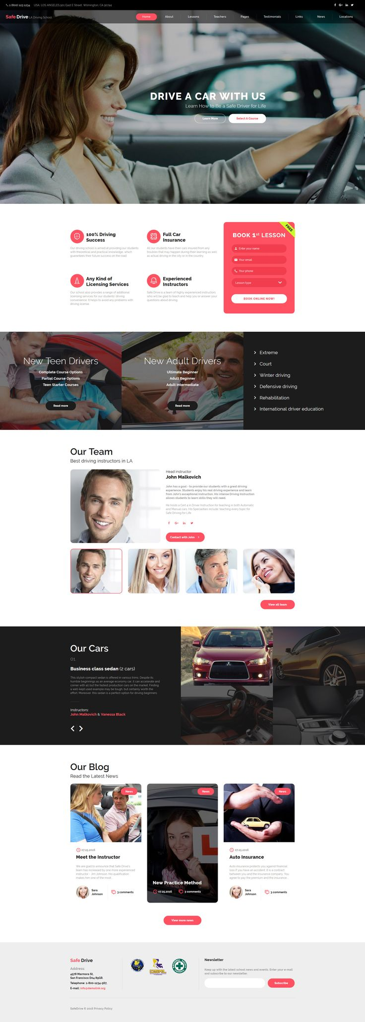 Best 25 website template ideas on pinterest business website safe drive traffic school driving lessons website template pronofoot35fo Choice Image
