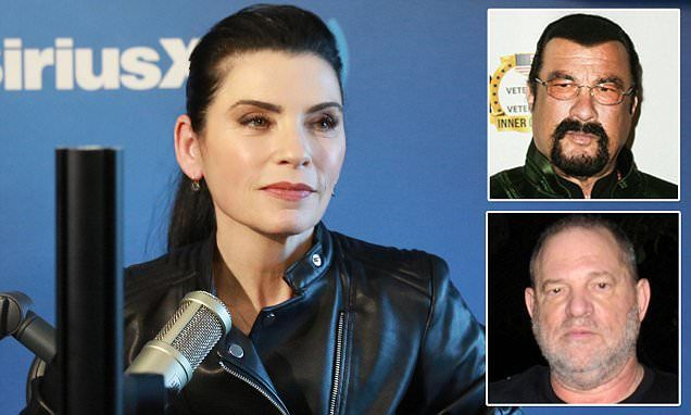 Good Wife's Juliana Margulies accuses Weinstein and Steven Seagal #DailyMail