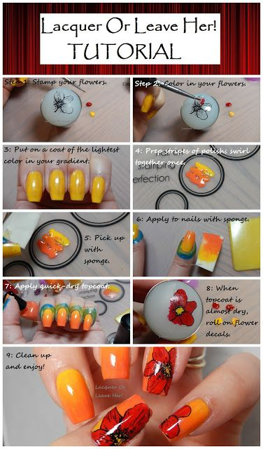 Pin now - look later! This is how they make all that cool nail art with stamps!!! I have always wanted to try nail stamping and this looks so easy!!! Easy nail art with nail stamps by Lacquer or Leave Her! I think she used UberChic Beauty nail stamp plates - so beautiful nails!!!