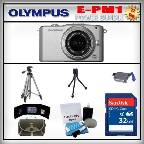olympus pen epm1 silver 12mp digital camera olympus 1442mm lens