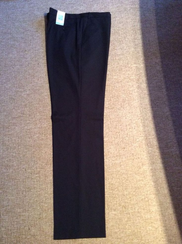 M&S PERFORMANCE TROUSERS W42  INside LEG 37  BNWT NAVY with stripes very smart